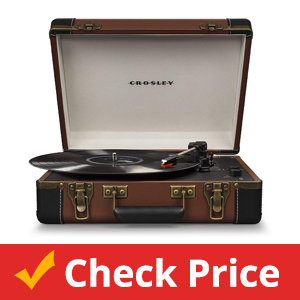 Crosley-CR6019D-BR-Executive-Portable-USB-Turntable-with-Bluetooth,-Brown